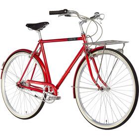 Creme Caferacer Doppio Citybike Herrer rød